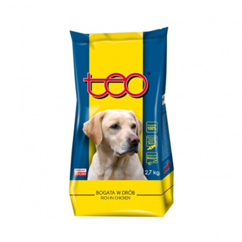 Dry dog poultry food