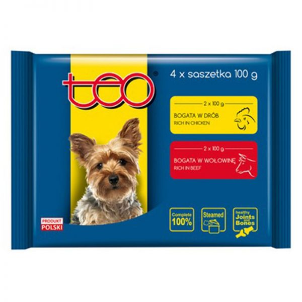Dog pouches poultry beef