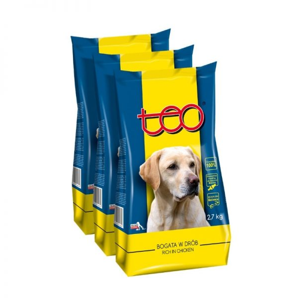 Teo dry food for dogs rich in chicken