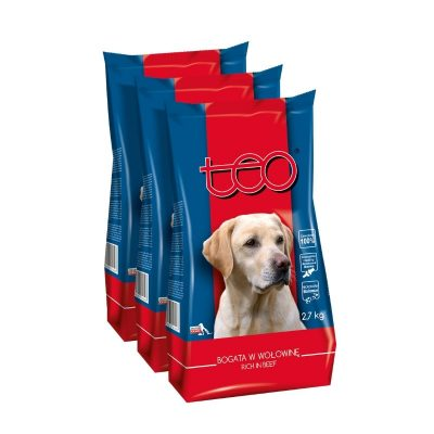 Teo dry food for dogs rich in beef