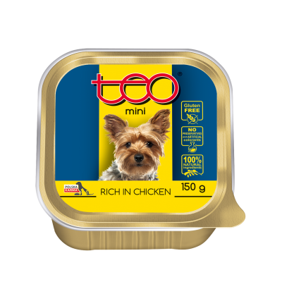 Teo pate MINI for dogs rich in chicken