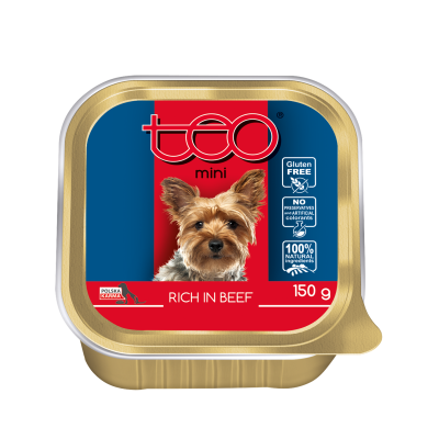 Teo pate MINI for dogs rich in beef