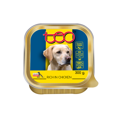 Teo pate for dogs rich in chicken