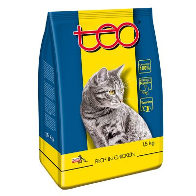 Cat dry food chicken