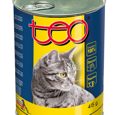 Teo wet food for cat rich in chicken