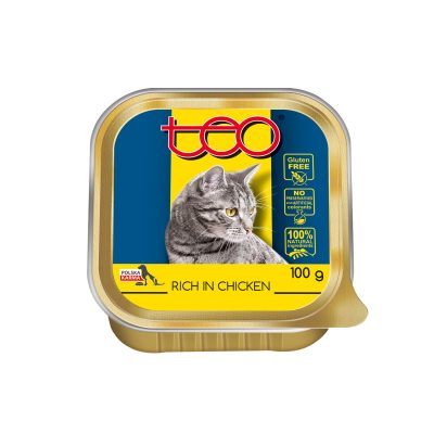 Teo pate for cats rich in chicken